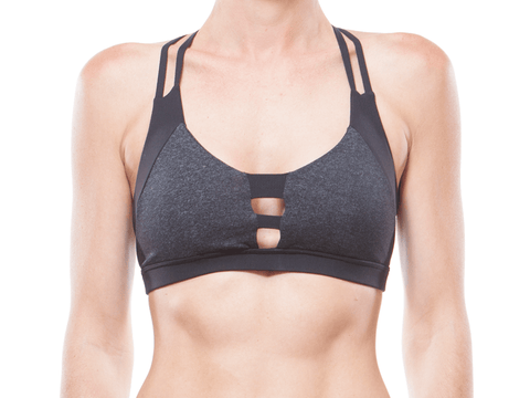 Black + Charcoal | Web Back Bralette