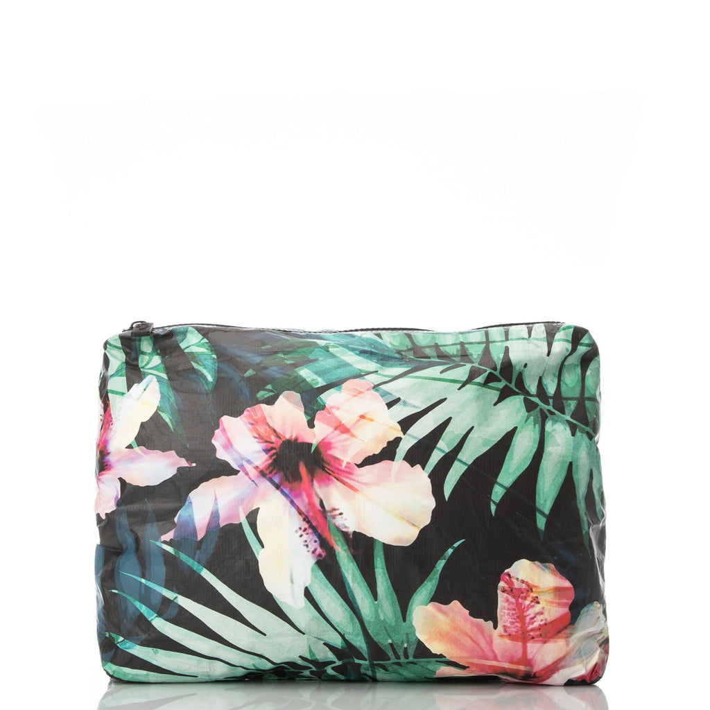 ALOHA Collection MEDIUM POUCH | HIBISCUS/PALM - WITH LOVE FROM PARADISE