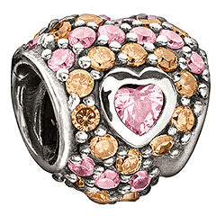 Jeweled Heart in Heart Pink - Retired
