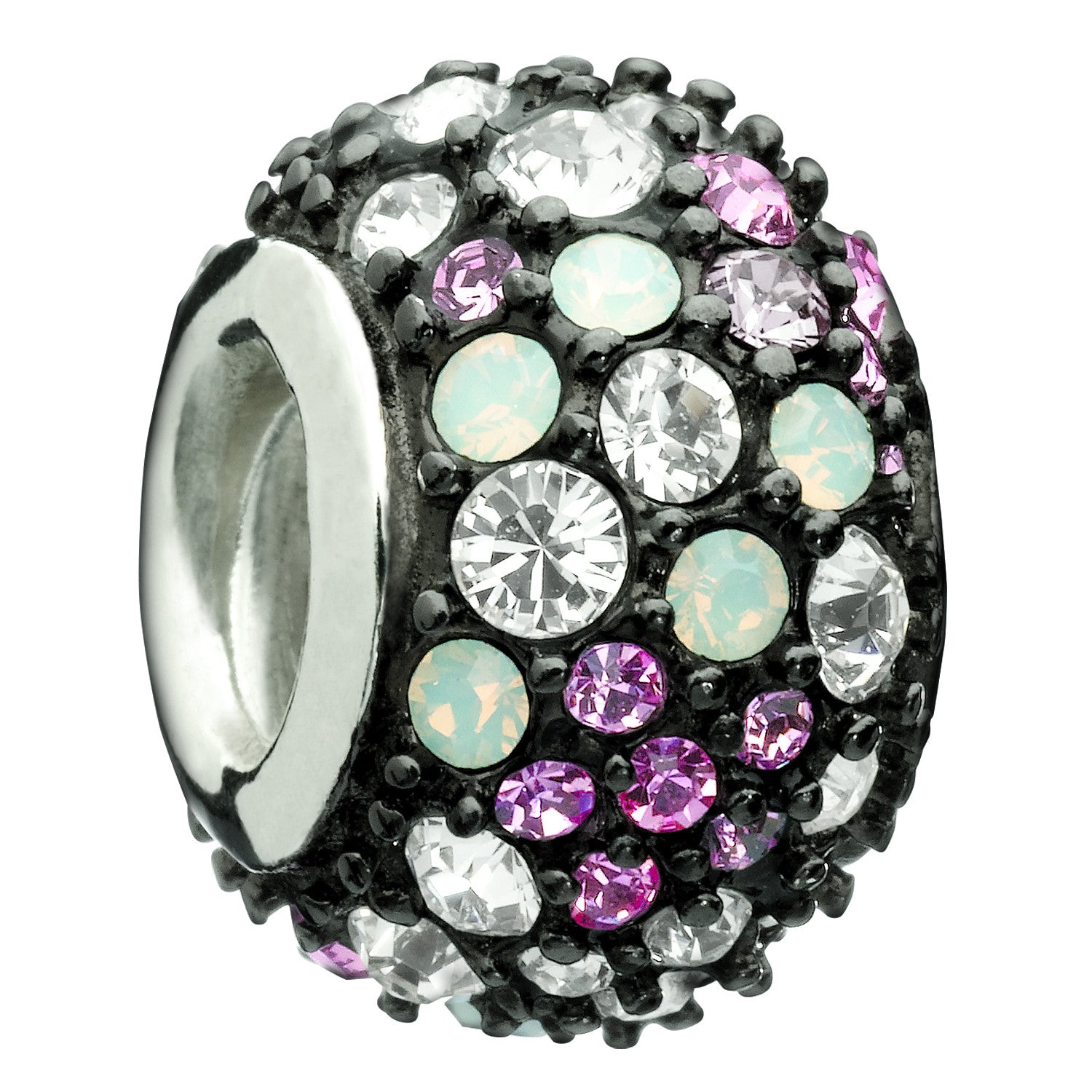 Jeweled Kaleidoscope Pink and Black - Retired