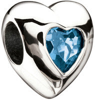 March Heart Birthstone CZ - Miss Chamilia - Retired