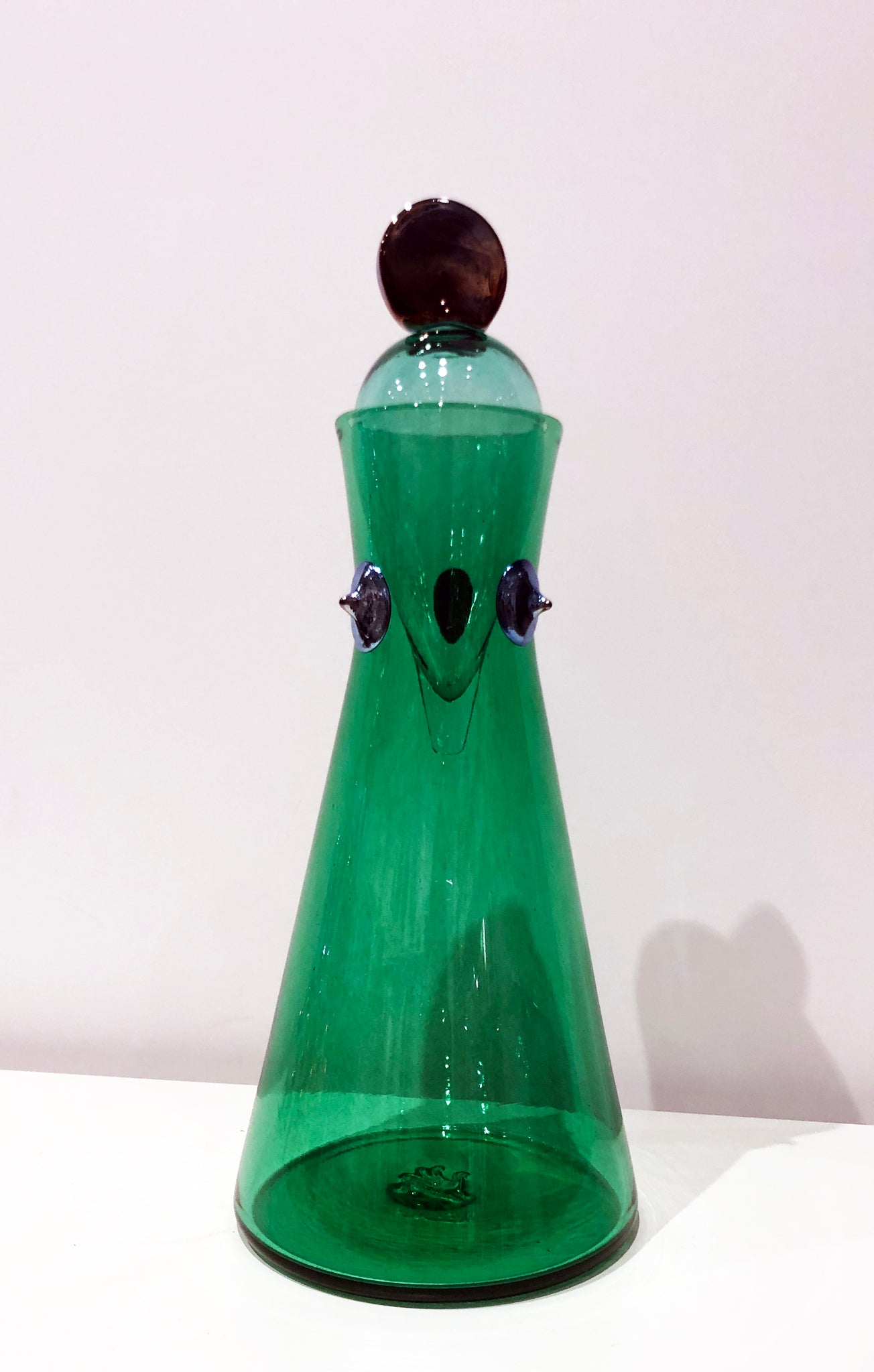 Carafe with Teardrop Stopper in Green - The Brant Foundation Shop