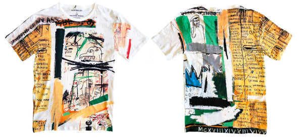 Basquiat t-shirt front and back allover print