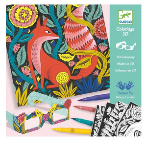 DJECO 3D Fantasy Forest Coloring Kit