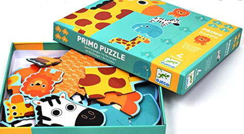 DJECO In the Jungle Primo Progressive Puzzle