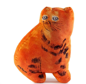 Andy Warhol Sam the Cat Orange Plush