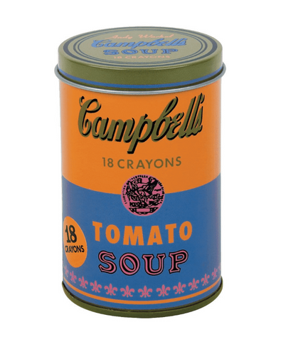 Andy Warhol Campbell's Soup Can Crayon Set