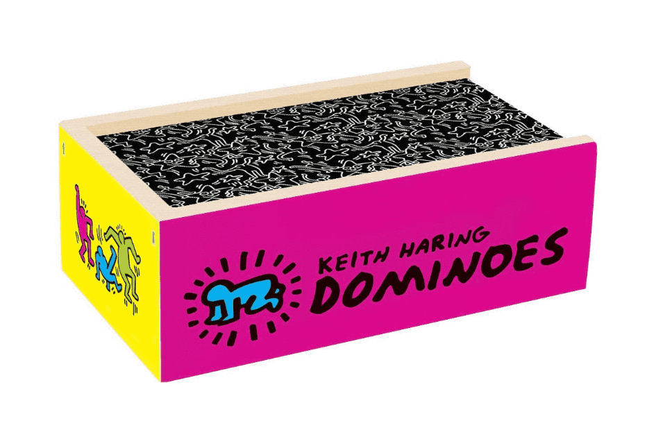 Keith Haring Wooden Dominoes Set