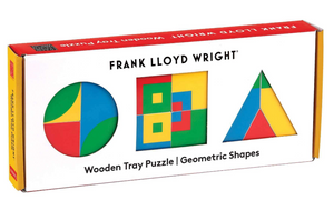 Frank Lloyd Wright Geometric Shapes Wooden Tray Puzzle - The Brant Foundation Shop