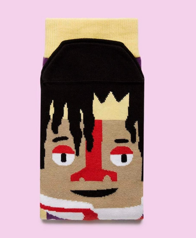 "Jean-Michel Basquiat ""Basquitoe"" Socks"