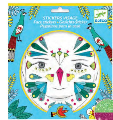 Djeco Kids Face Stickers - The Brant Foundation Shop