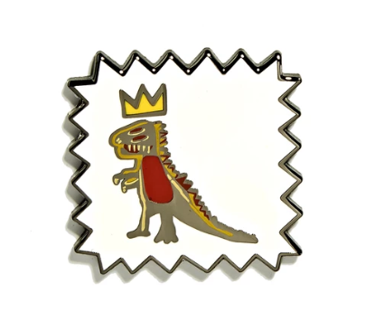 Jean-Michel Basquiat Pin - Crowned Dinosaur / Pez Dispenser - The Brant Foundation Shop