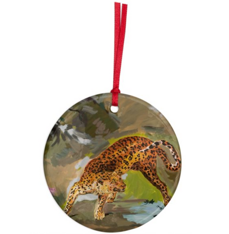 Karen Kilimnik 'the ocelot lost in hawaii' Ornament