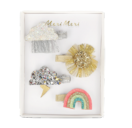 Sparkly Weather Hair Clipss - The Brant Foundation Shop