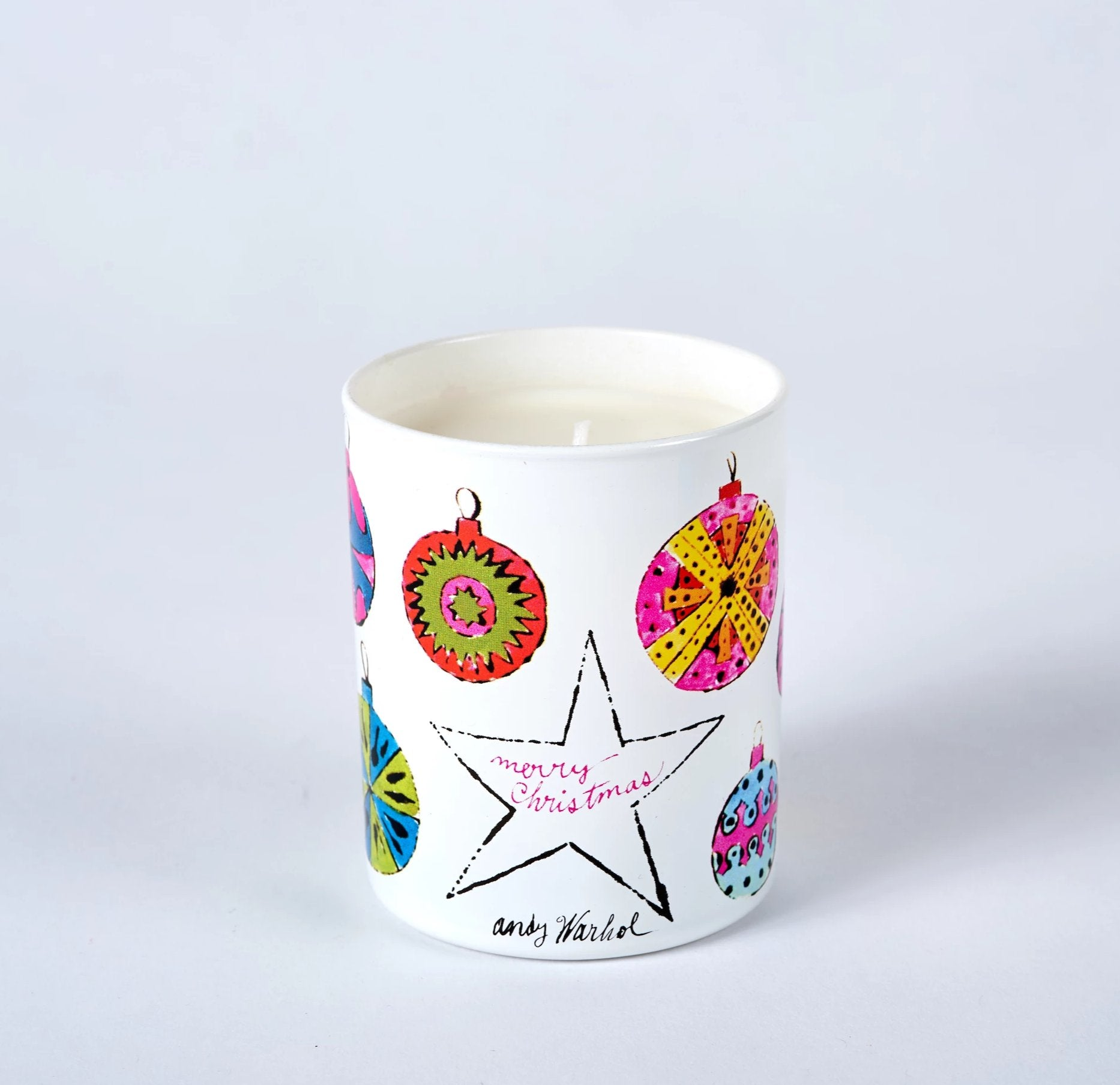 "Andy Warhol ""Holiday / Angel"" Candle - The Brant Foundation Shop"