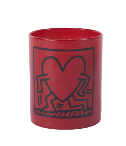 "Keith Haring ""Red Running Heart"" Candle - The Brant Foundation Shop"