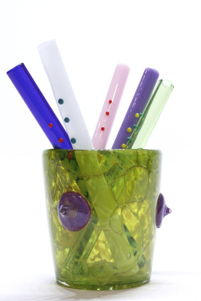 Asp & Hand Ding-A-Ling Glass Straw