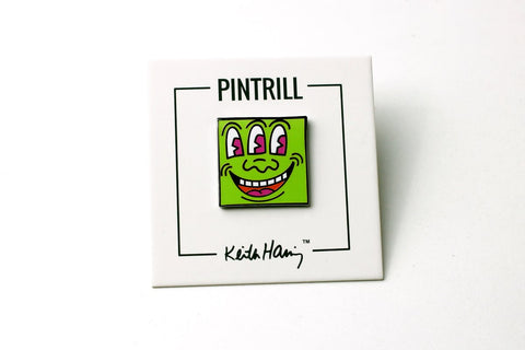 Keith Haring Monster Pin - Green