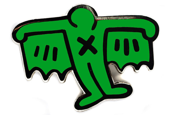 Keith Haring Bat Demon Pin - The Brant Foundation Shop