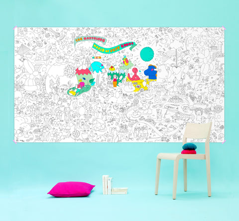 The Marvelous World of Jeff Koons - XXL Coloring Roll - The Brant Foundation Shop
