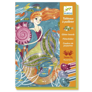 Djeco Mermaid Lights Glitter Board - The Brant Foundation Shop