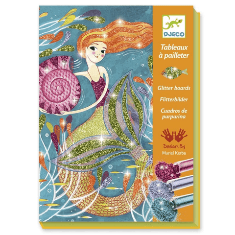Djeco Mermaid Lights Glitter Board