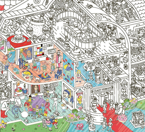 Crazy Museum Coloring Poster - The Brant Foundation Shop