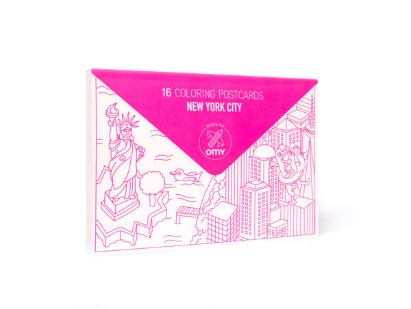 New York Coloring Postcards