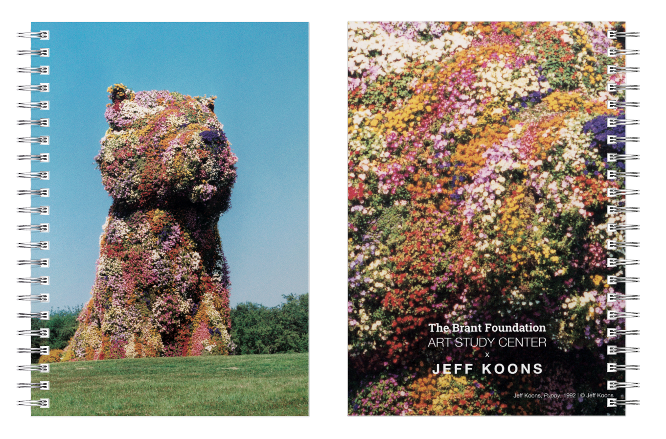 Jeff Koons Puppy Notebook - 9 x 6 inches