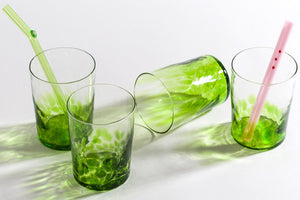 Spritz Drinking Glass Set in Parrot Green - The Brant Foundation Shop