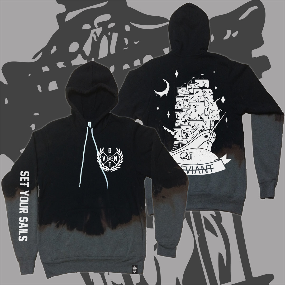 "**LIMITED** Ghost Dye'd ""Flagship"" Pullover Hoodie!"