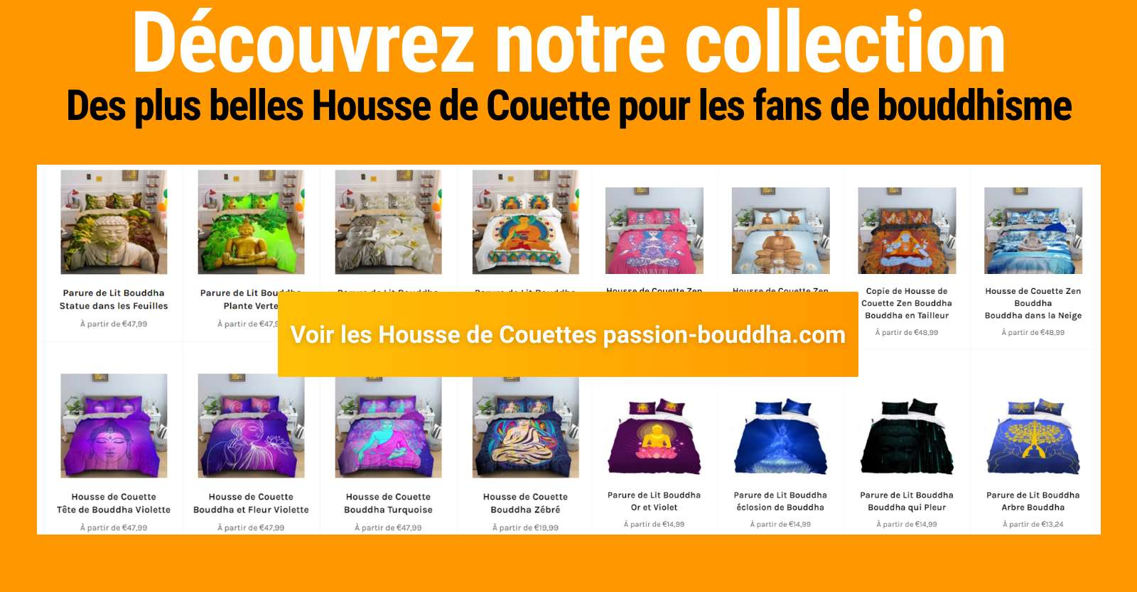 collection housse de couette bouddha