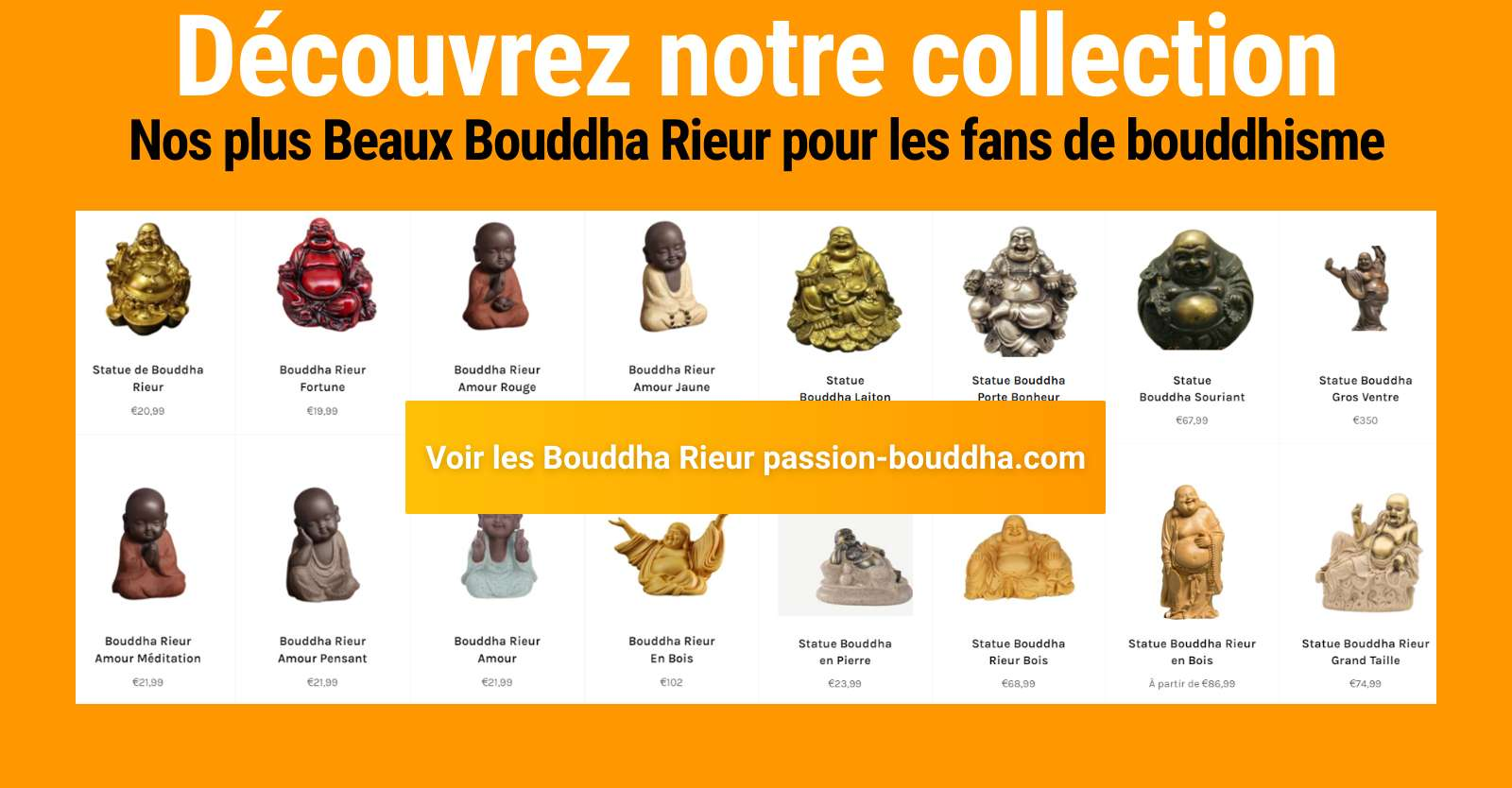 collection statue bouddha rieur