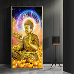 Tableau bouddha luminescent