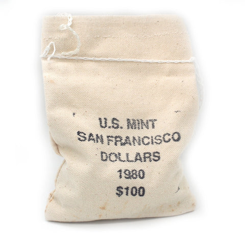 1980-S Susan B. Anthony Dollar 100 Coin Bag - Unopened