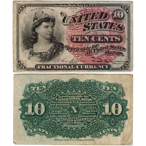(1869-1875) 4th Issue 10¢ Fractional Fr. 1258 - Very Fine