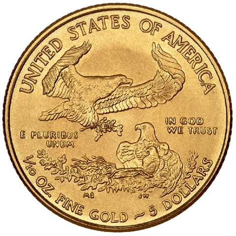 Back-Date Tenth Ounce $5 American Gold Eagles on Special - Dates of Our Choice