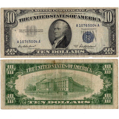 1953-A $10 Silver Certificate Fr.1707 - Nominal Very Fine