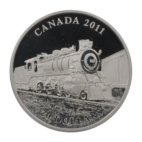 2011 Canada $20 D-10 Train Proof Silver Coin - Gem Proof in OGP w/ COA