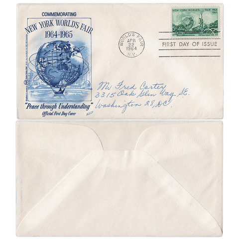 First Day of Issue April 22, 1964 5c NY World's Fair First Day Cover - Scott 1244