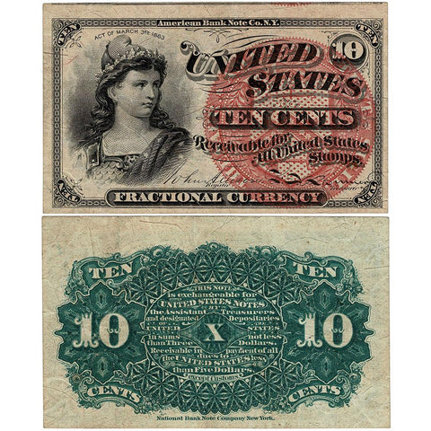 (1869-1875) 4th Issue 10¢ Fractional Fr. 1257 - Extremely Fine