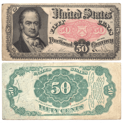 (1874-1876) 5th Issue 50¢ Fractional Fr. 1380 - Very Fine