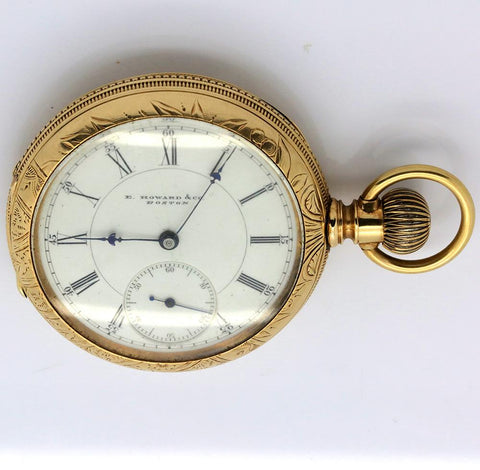1870s E. Howard Series V 14K Gold Pocket Watch - 15 Jewel, Running