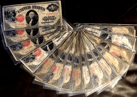"Lot of 15 1917 ""Sawhorse"" $1 Legal Tender Notes - Mixed Grade ""Problem"" Notes"