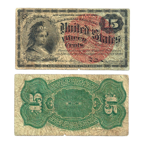 (1869-1875) 4th Issue 15¢ Fractional Fr. 1267 ~ Very Good
