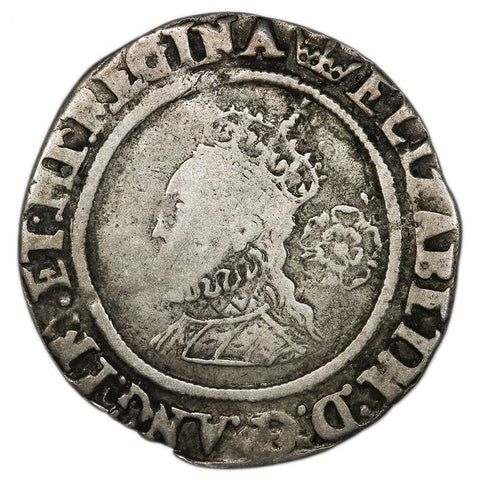 1567 Great Britain Elizabeth I Silver Six Pence S-2562 - Good/Very Good