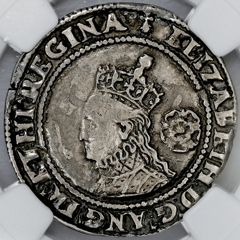 1573 Great Britain Silver Six Pence Small Bust S-2562 - NGC XF Details