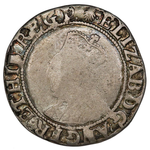 (1584-86) Great Britain Elizabeth I Silver Shilling S-2577 - Good+