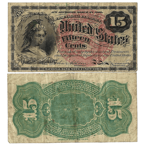 (1869-1875) 4th Issue 15¢ Fractional Fr. 1267 ~ Very Fine