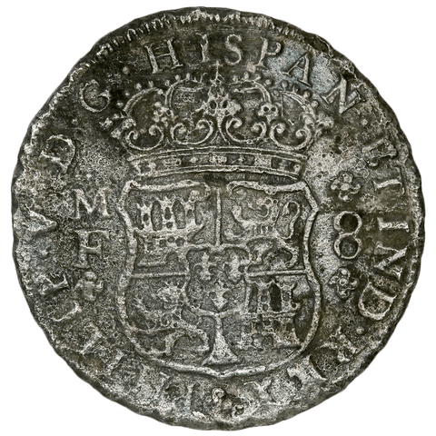 1740-MF Mexico Silver 8 Reales KM.103 - Very Fine Details (Sea Salvage)